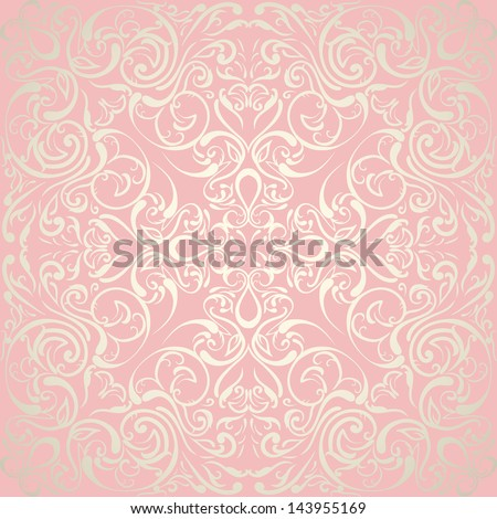 Elegant abstract floral wallpaper, seamless. Wedding design - stock vector