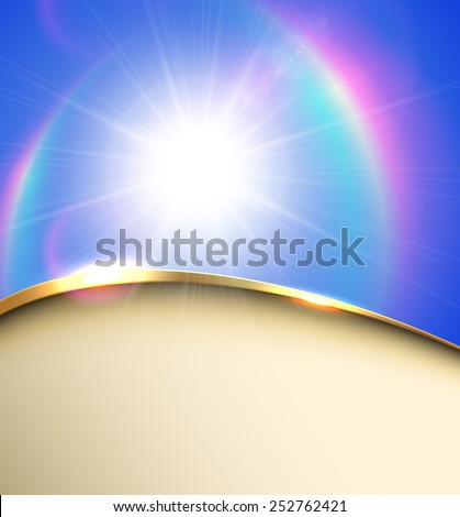 Elegant abstract sunny background, vector illustration. - stock vector