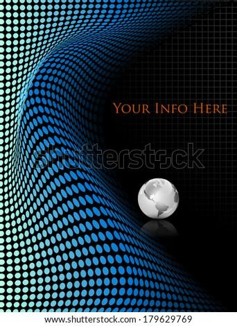 Elegant abstract technology background - vector illustration - stock vector