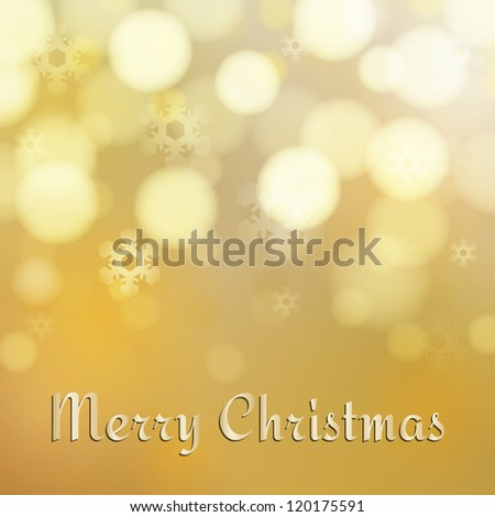 Elegant and Light Gold Marry Christmas background
