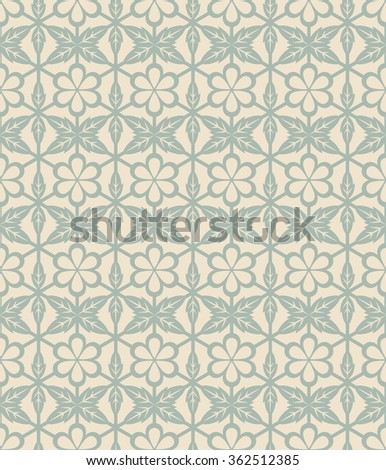 Elegant antique background image of round flower leaf cross polygon pattern. Antique background image patterns can be used for wallpaper, web page background, surface textures.