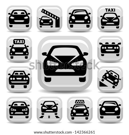 Elegant Auto Icons Set Created For Mobile, Web And Applications. - stock vector