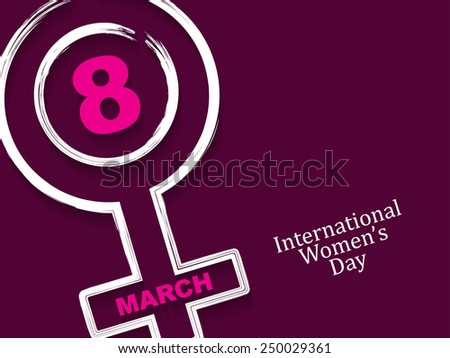 Elegant background design for International Women's Day.  - stock vector