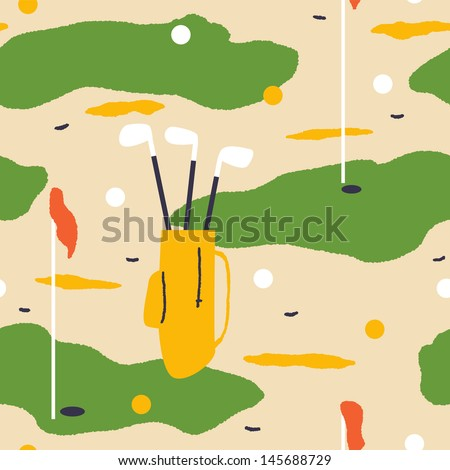 Elegant background for golf lovers. Vector seamless - stock vector