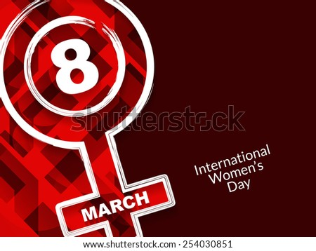 Elegant background with creative element design for International Women's Day. vector illustration - stock vector