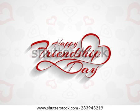 Elegant beautiful card design for friendship day. - stock vector