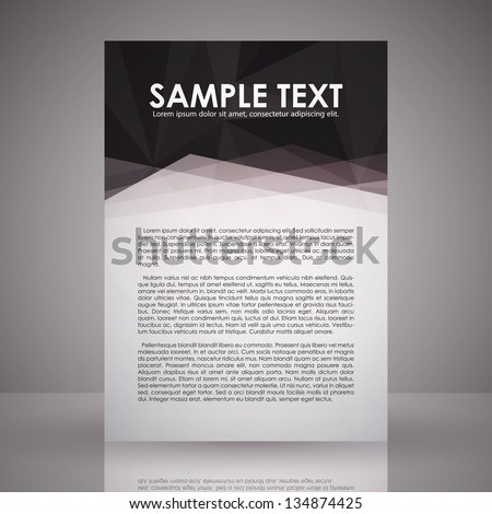 Elegant Black and White Flyer Template | EPS 10 Vector - stock vector