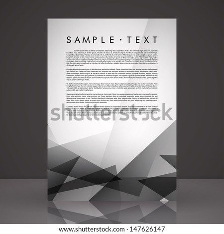 Elegant Black White Flyer Template Eps Stock Vector 147626147