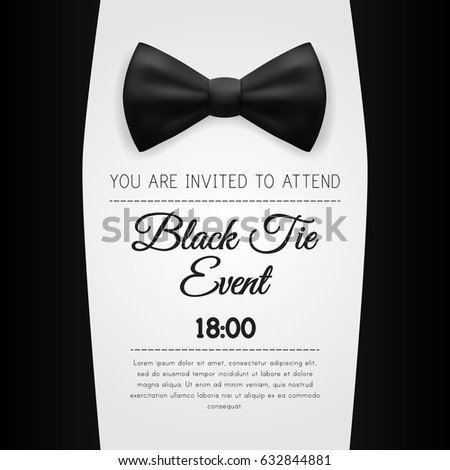 Elegant black tie event invitation template stock vector 632844881 elegant black tie event invitation template eps10 vector stopboris