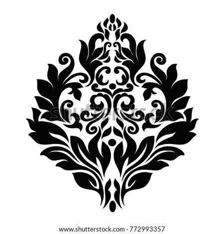 Elegant Black Vintage Baroque Frame Scroll Stock Vector 772993357 ...