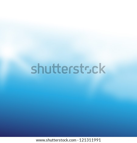 Elegant Blue Background - Vector Illustration, Graphic Design Editable For Your Design. Beautiful Background For Business Brochure. - stock vector