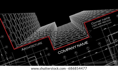 Elegant business card architect abstract vector stock vector elegant business card architect abstract vector stock vector 686854477 shutterstock reheart Images