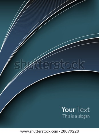 Elegant business cover - stock vector