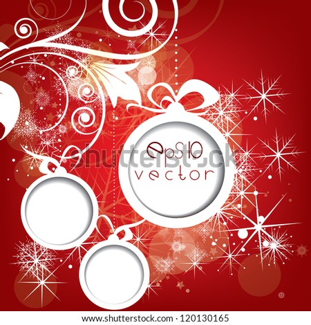 Elegant Christmas abstract background with snowflakes