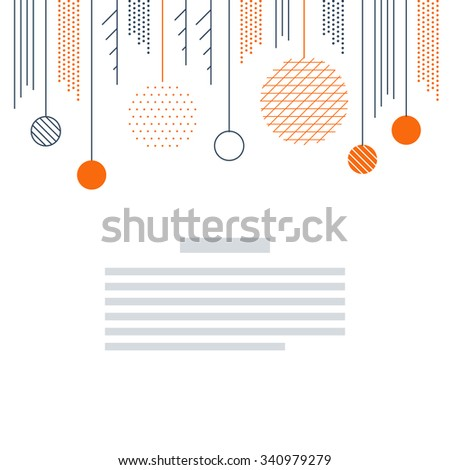 Elegant Christmas and New Year card template - stock vector