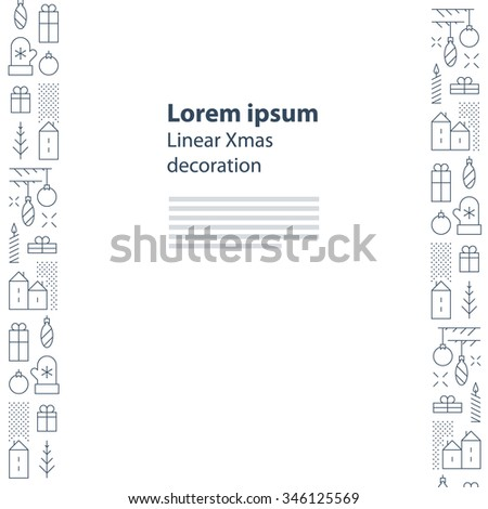 Elegant Christmas and New Year card templates - stock vector