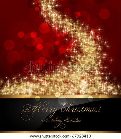 elegant christmas background with place for new year text invitation - stock vector