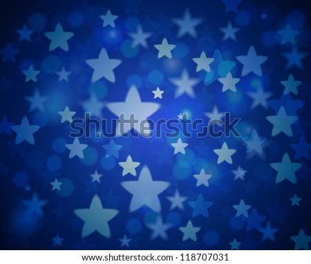 Elegant Christmas background with stars. Vector Illustration.