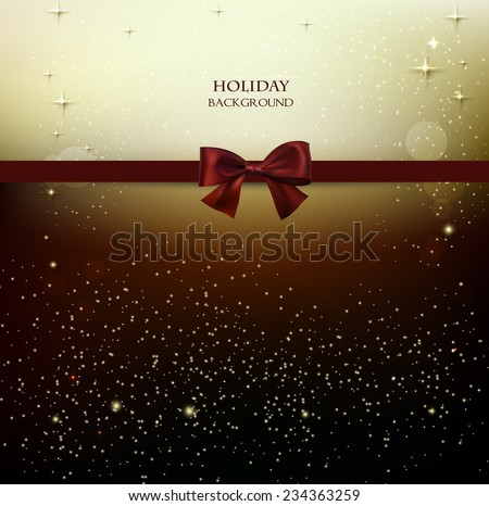 Elegant Christmas background with stars. Vector illustration - stock vector