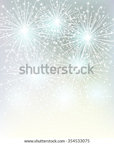 Elegant Christmas background with white snowflakes. Vector design  - stock vector