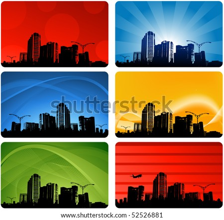 Elegant city designs - stock vector