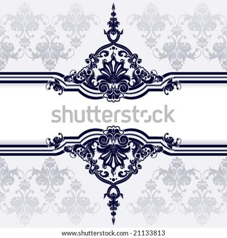 Elegant classical decor element - stock vector