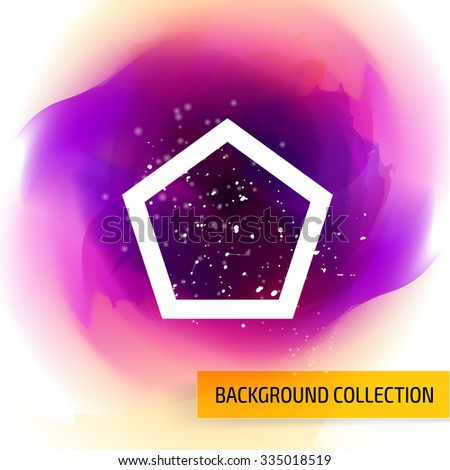 Elegant colorful background template design. Cover layout. - stock vector