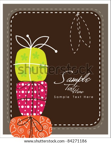 Elegant Colorful Gifts - stock vector