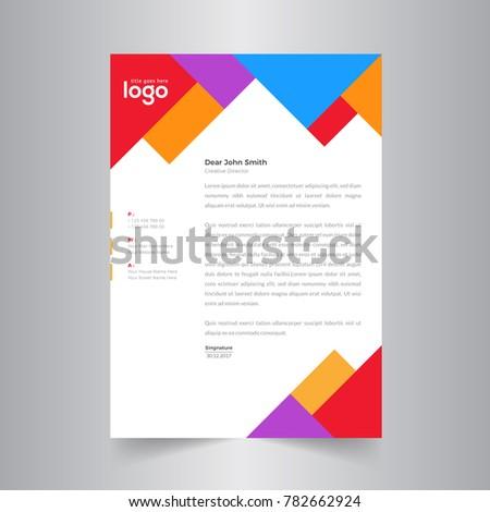 Elegant Colorful Letterhead Design Template