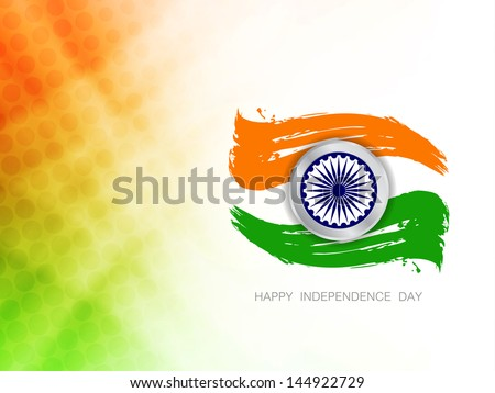 Elegant creative background for Indian republic day and independence day. - stock vector