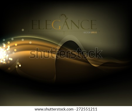 elegant curve lines minimalism glowing light waves elegant background eps10 vector - stock vector