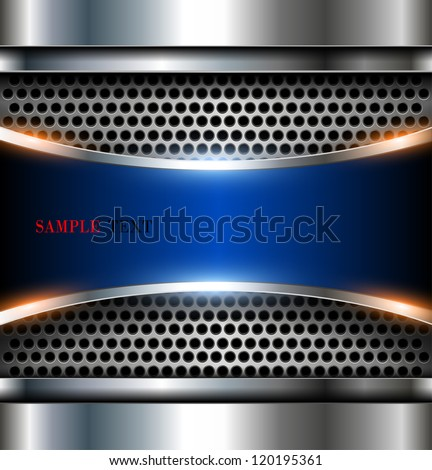 Elegant 3d metallic background, vector. - stock vector