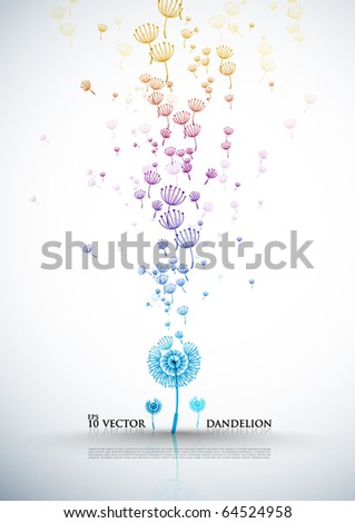 Elegant Dandelion Design - stock vector