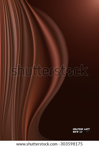 Elegant decorative ground with the motif of undulating curtain in brown tones