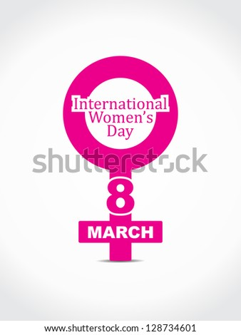 Elegant design element for women's day on white background. - stock vector