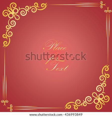 Elegant design for decorative frames to decorate the pages. Design elements . Vector illustration.  - stock vector