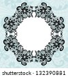 Elegant doily on lace gentle background for scrapbooks - stock vector