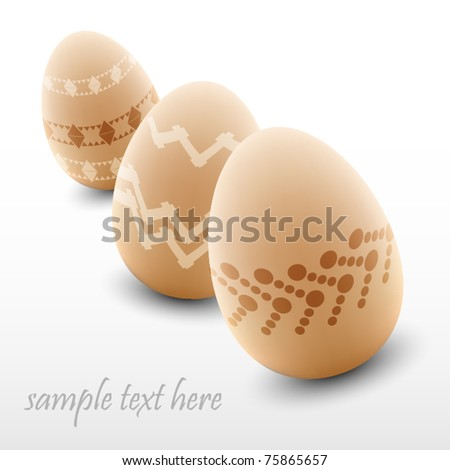 Elegant easter background with eggs - stock vector