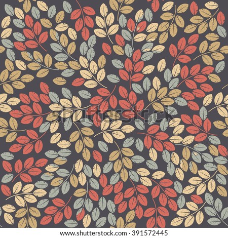 Elegant endless pattern with autumn leaves can be used for linen, tile, wallpaper and more creative designs. Vector template.