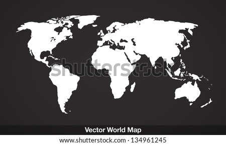 Elegant EPS10 vector World Map - stock vector