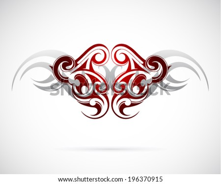 Elegant ethnic tattoo design - stock vector