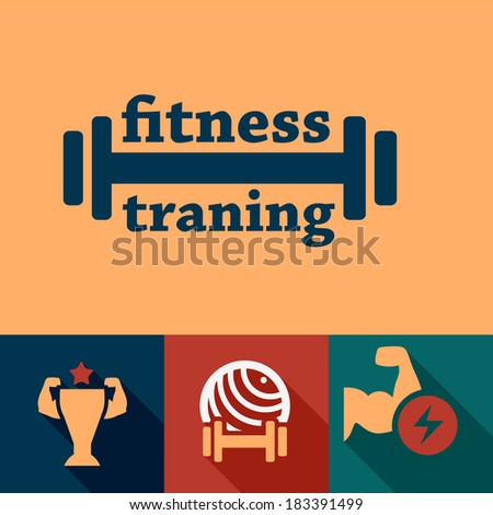 Elegant Fitness and Sport Design Elements. - stock vector
