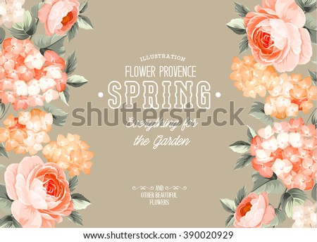 Elegant floral card. - stock vector