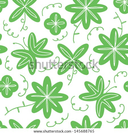 Elegant floral vector seamless pattern. Can be used for attractive textile products - stock vector