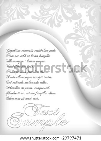 elegant flower background vector with space for text - stock vector