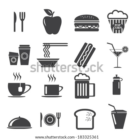 Elegant Food Icons Set 1 Created For Mobile, Web And Applications. - stock vector