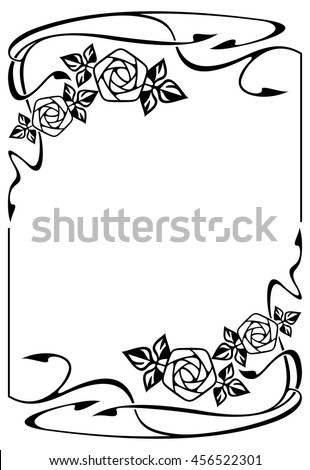 Elegant frame with roses. Design element for advertisements, logo, banners, labels, prints, posters, web, presentation, invitations, weddings, greeting cards, albums. Vector clip art. - stock vector