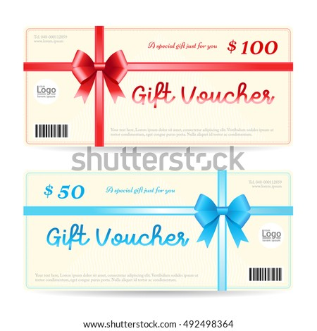 Elegant Gift Voucher Gift Card Template Stock Vector