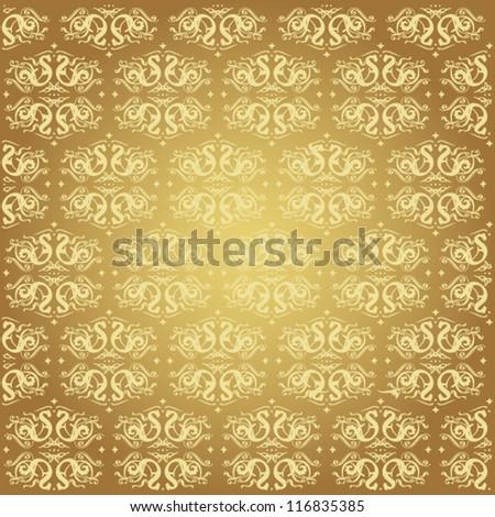 Elegant gold background - stock vector