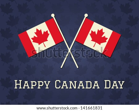 Elegant greeting card design for Canada Day. - stock vector